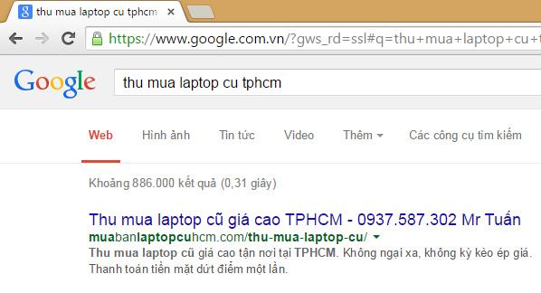 Thu mua laptop cũ TPHCM